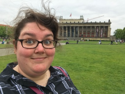 Me in front of the Altes Museum. I couldn't wait to go in the next day!